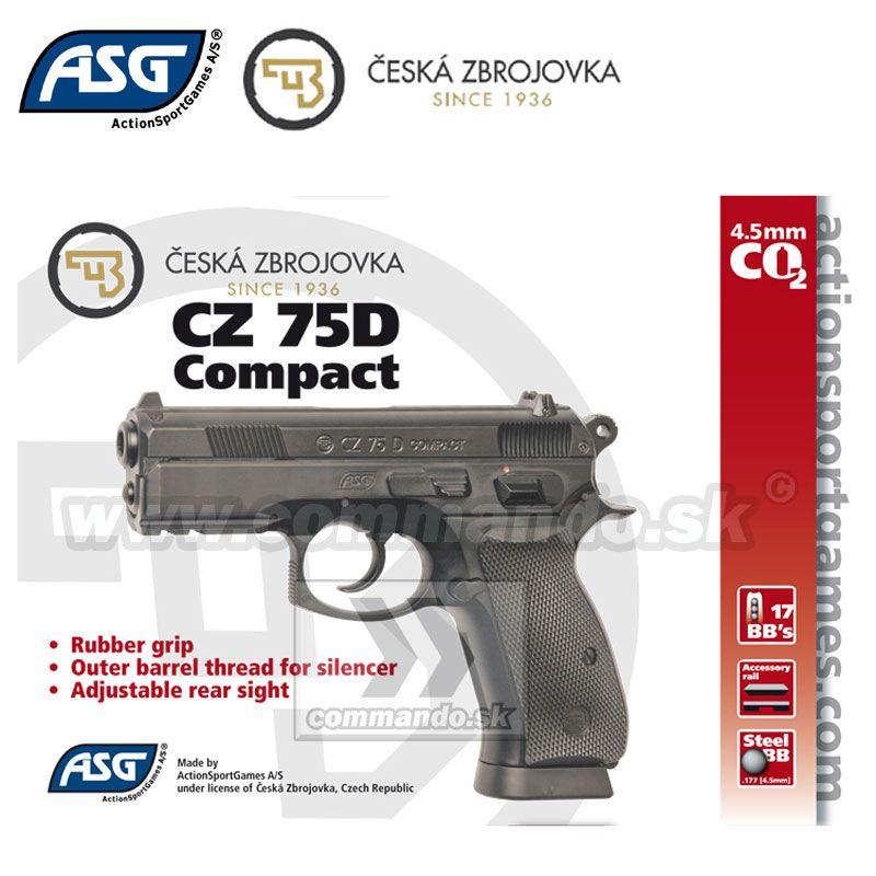 fde8545a1 Airgun Pistol Vzduchovka CZ 75 Compact GNB CO2 4,5mm | Commando.sk
