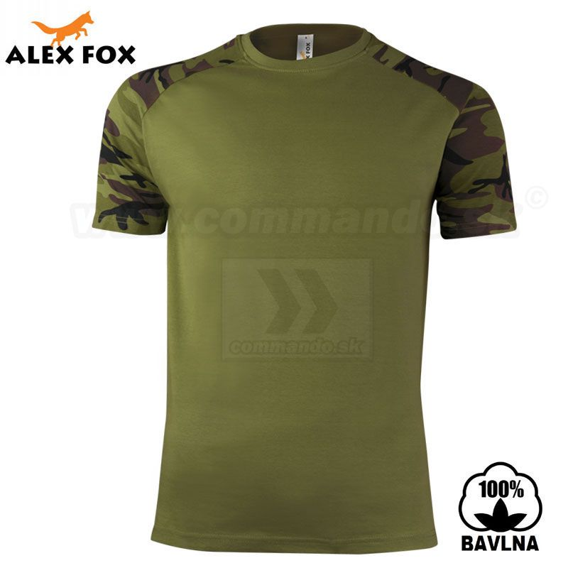 1c7905e2d7 Alex Fox Pánske tričko Raglan Military Camouflage maskáčové ...