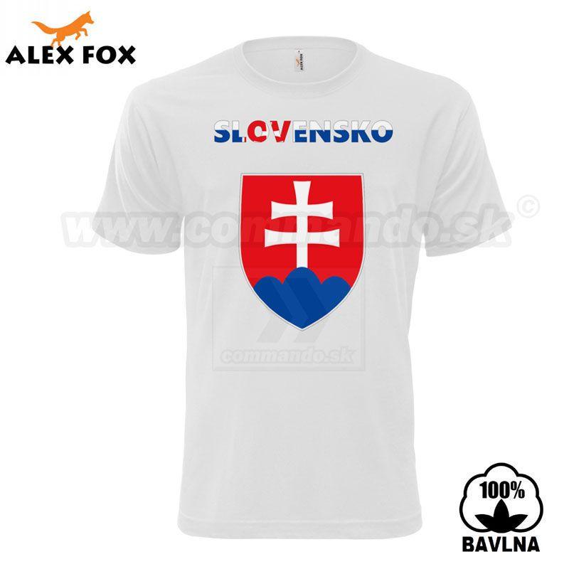 7c9d6cdf8a Alex Fox Pánske tričko Fan Slovakia biele