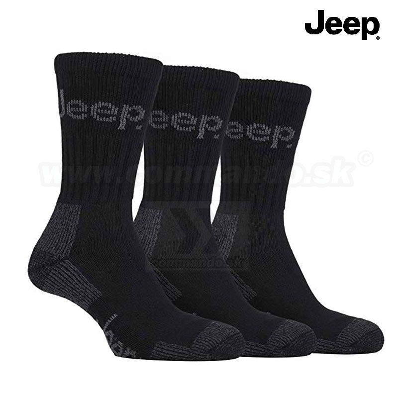be557712524 Jeep Thermo turistické ponožky 3 páry čierne