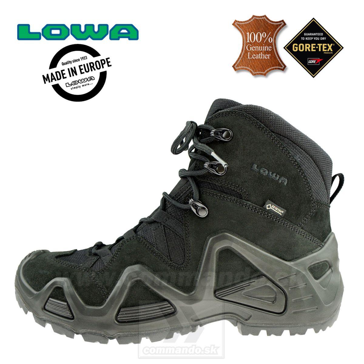 c23ae5c2f Taktická obuv LOWA ZEPHYR GTX Mid TF Black | Commando.sk
