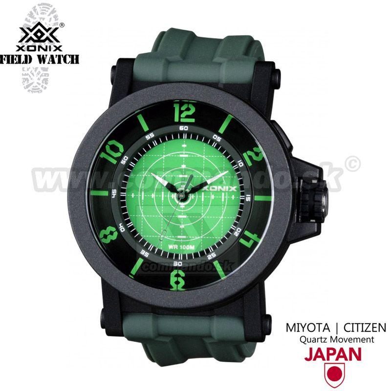 18e433aeb Náramkové military hodinky XONIX UN 005 Green | Commando.sk