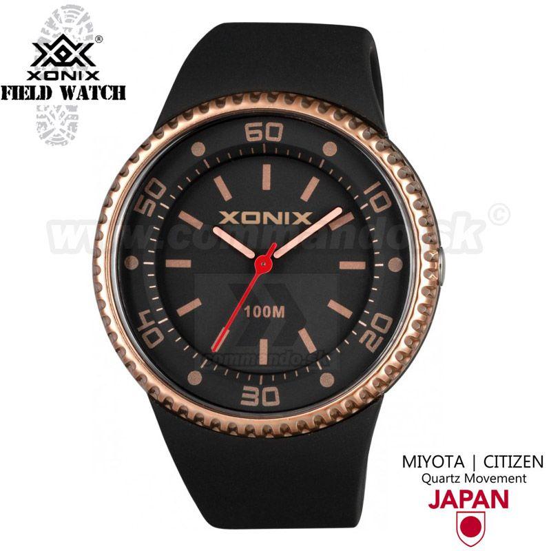 67314764a Náramkové hodinky XONIX UN OJ 006 Black Brass | Commando.sk