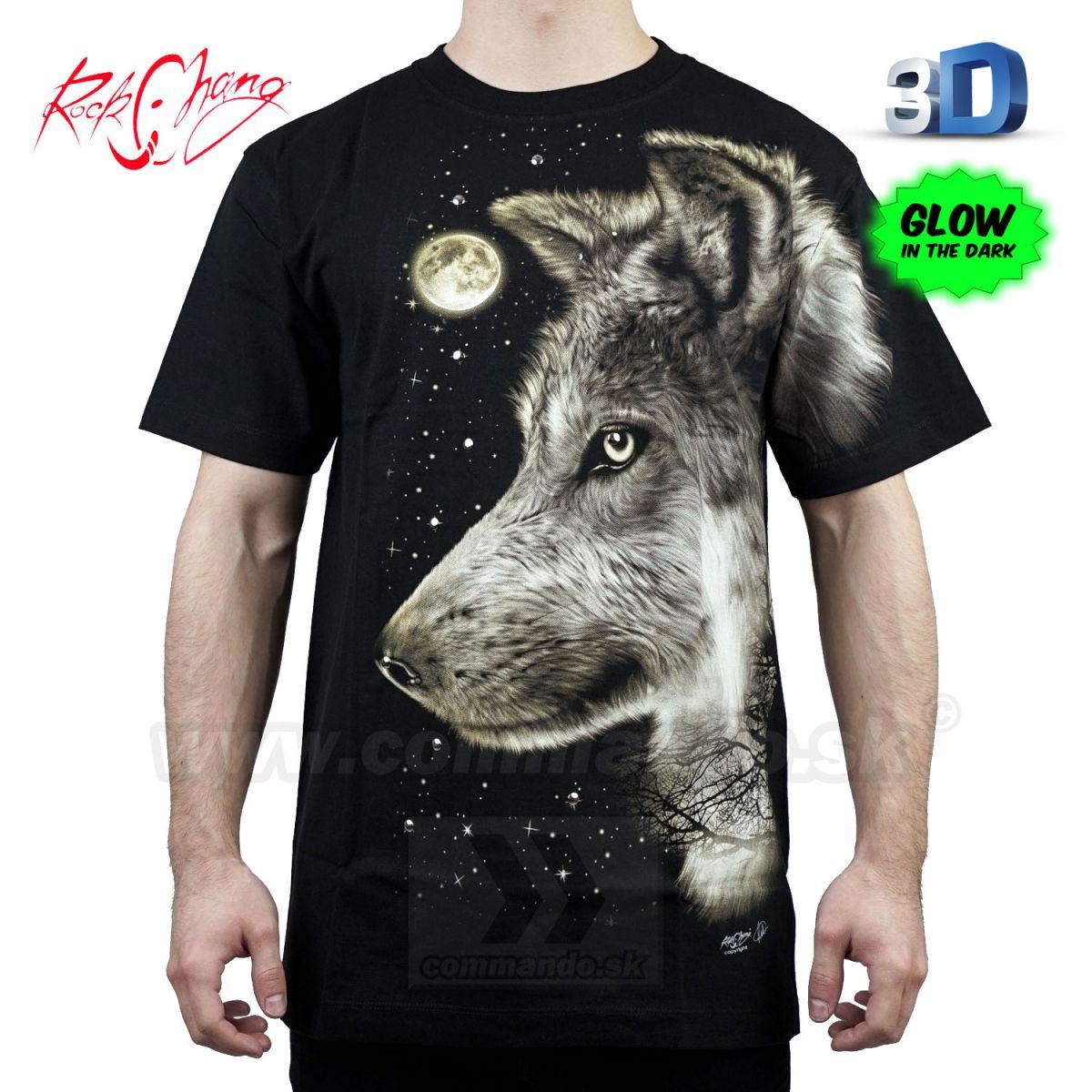 e3c38caeeae3 Tričko HD Watching Wolf Rock Chang WRM30 T-Shirt
