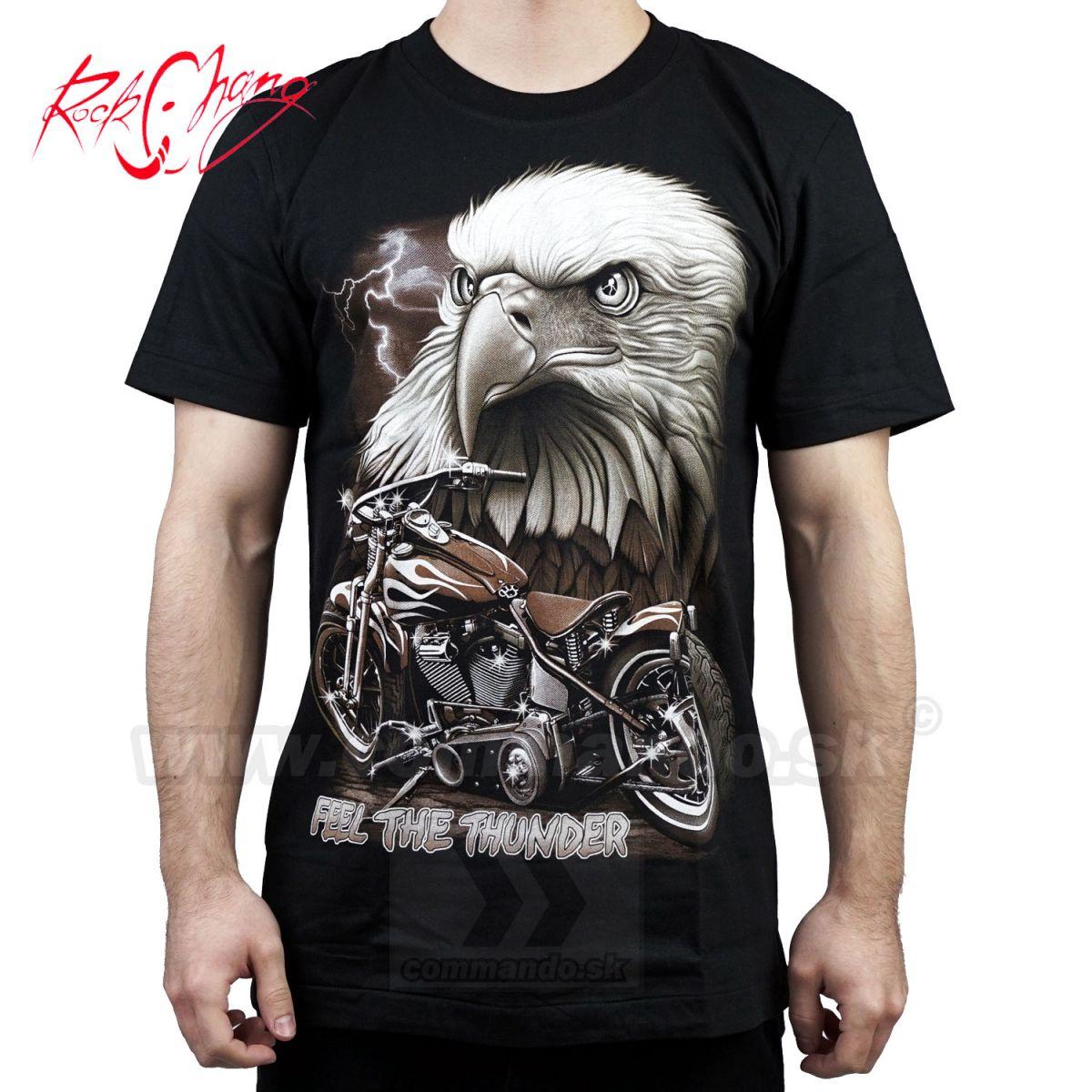1be1165e4adf Tričko Feel The Thunder Rock Chang 4407 Motorcycle TShirt