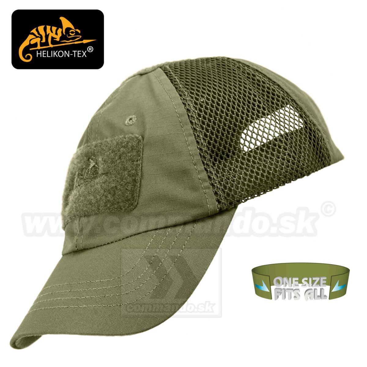 2452bbd07 Helikon Tex Baseball Cap sieťovaná šiltovka čiapka Olive green ...
