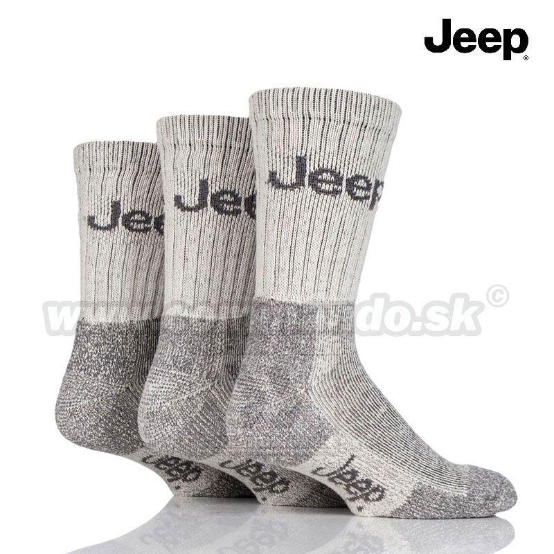 c0604eecd52 Jeep Thermo pracovné turistické ponožky hnedé biele