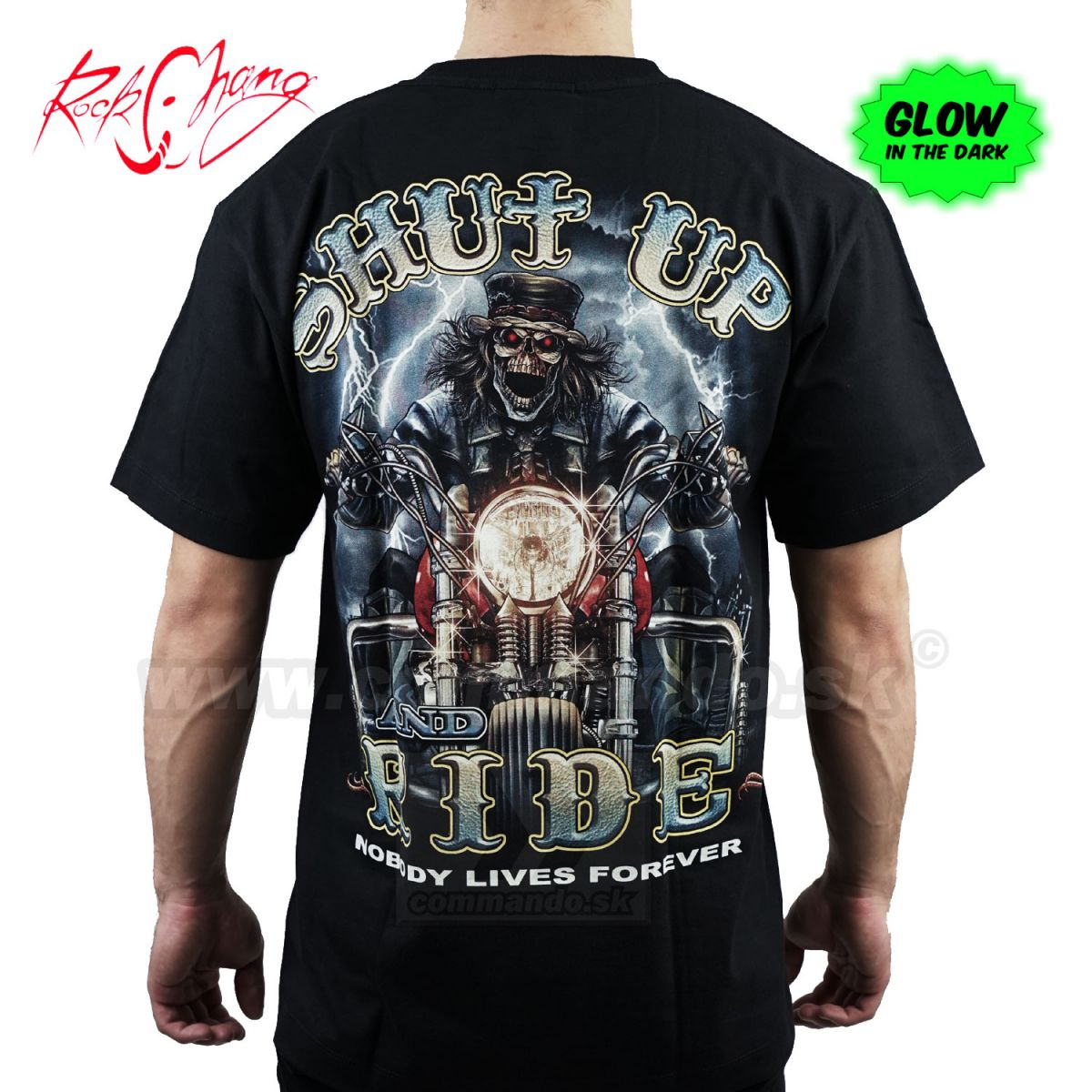 faa7674a5ed5 Tričko Shut Up Ride Rider Rock Chang GR413 T-Shirt