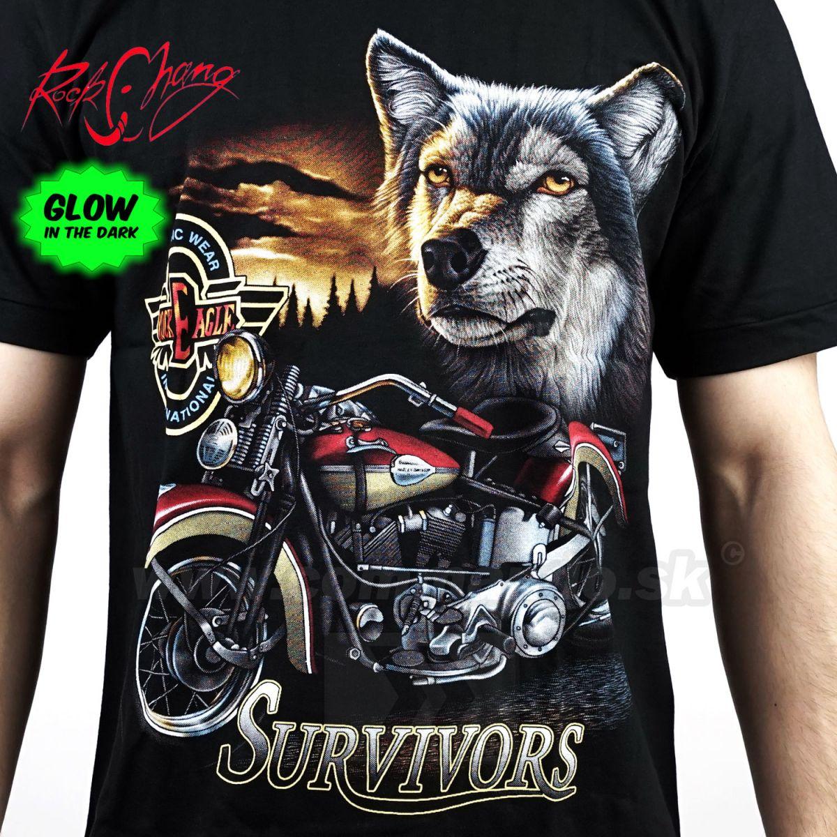 5aa3be6bbf49 Tričko Survivor Rock Eagle Rock Chang 3509 Motorcycle TShirt ...