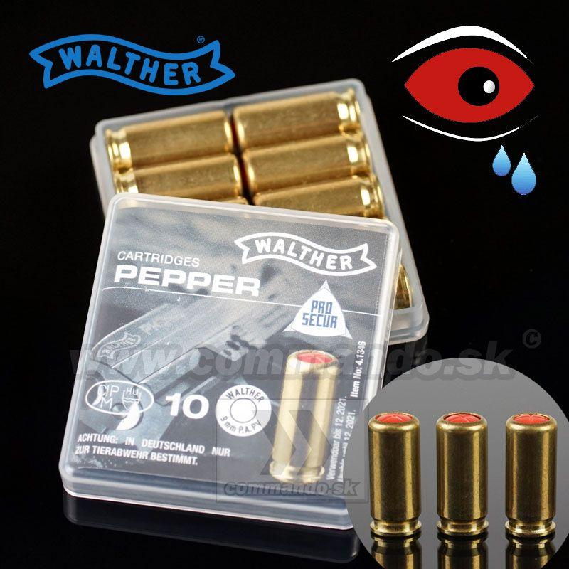 Plynový náboj Walther PEPPER P-VS Supra 9mm PAK | Commando sk