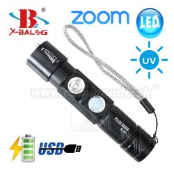 Bailong X-BAL BL-831 Mini USB UV LED svietidlo Zoom Flashlite