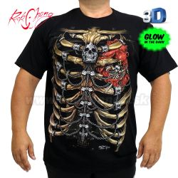 Tričko 3D Röntgen Rock Chang HD21 T-Shirt