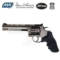 "Airgun Revolver Dan Wesson 715 6"" Steel Grey CO2 4,5mm"