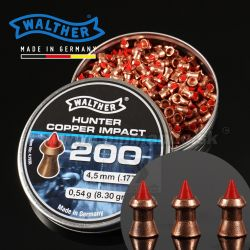 Diabolky Walther Hunter copper Impact 4,5mm, diabolo