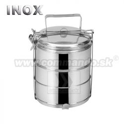Orion obedár Nerez Stainless Steel 3 x 1000ml