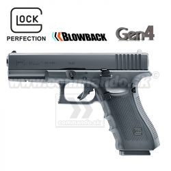 Airsoftová pištoľ Glock G17 Gen4 6mm CO2 metal slide, airsoft pistol