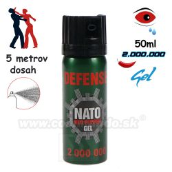 Obranný slzný sprej NATO Defense Red Pepper Gel Kaser 50ml, green