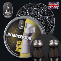 Diabolo BSA Master INTERCEPTOR 4,5mm 450ks 0,49g