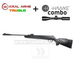 Vzduchovka KRAL ARMS N-01 S Syntetic 4,5mm COMBO Hawke Vantage 3-9x40 AO