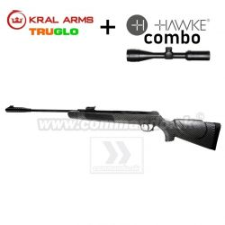 Vzduchovka KRAL ARMS N-01 CARBON 4,5mm COMBO Hawke Vantage 3-9x40 AO