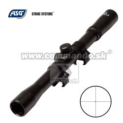 Puškohľad Strike Systems 4x20 Scope 11mm Mount Rings
