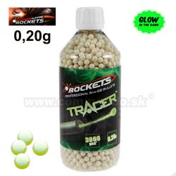 Airsoft Rockets TRACER 3000 ks BBs 0,20g Professional