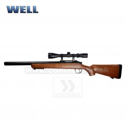 Airsoft Sniper Well MB-02H WOOD Set ASG 6mm