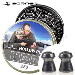 Diabolo Hollow Point 5,5mm 250ks 1,15g Borner