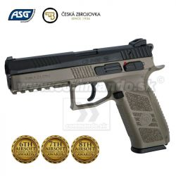 Airsoft Pistol CZ P-09 DUTY Black + Noir, Case Gas GBB 6mm