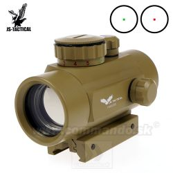 Kolimátor JS-Tactical 1x40GRD Tube Tan Dot Sight