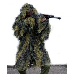 GHILLIE PARKA 'ANTI FIRE' - woodland