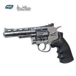 "Airsoft Revolver Dan Wesson 4"" Silver GNB CO2 6mm"