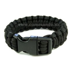 Náramok Paracord Bracelet 22 mm Black