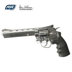 "Airgun Revolver Dan Wesson 6"" Silver GNB CO2 4,5mm"