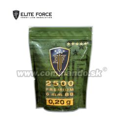 Airsoft Elite Force Premiun BB guličky 6mm 2500ks 0,20g White