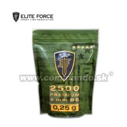 Airsoft Elite Force Premium BB guličky 2500ks 0,25g White