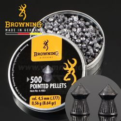 Diabolky Browning Pointed 4,5mm 500ks Airgun Diabolo Pellets