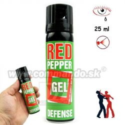 Obranný slzný sprej Defense Red Pepper Gel Kaser 25ml