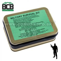 Núdzový set MILITARY SURVIVAL TIN