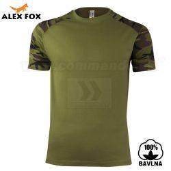 ed3114f0fba6 Alex Fox Pánske tričko Raglan Military Camouflage maskáčové