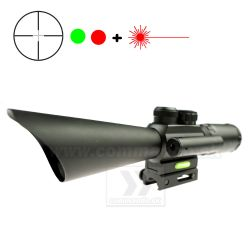 Kolimátor 3,5-10x40 + Laser Accurate JGBGM8 Scope Dot Sight 21/22mm