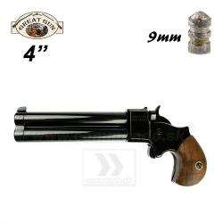 "Perkusná pištoľ Derringer 9mm 4"" Black Great Gun"