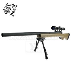 Airsoft Sniper Rifle Snow Wolf SW-04 Tan Scope 3-9x40 6mm