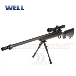 Airsoft Sniper Well L96 MB01D Black Set ASG 6mm
