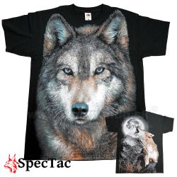 Tričko Vlk Forest Wolf Black T-Shirt