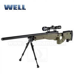 Airsoft Sniper Well L96 MB08 Olive Set ASG 6mm