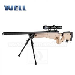 Airsoft Sniper Well L96 MB08 Tan Set ASG 6mm