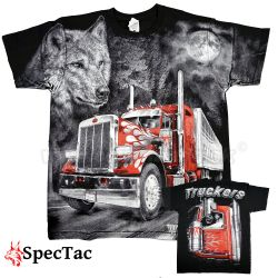 Tričko Red Truckers Wolf T-Shirt