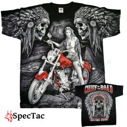 Tričko Motorcycle Chief Road Native Pride T-Shirt
