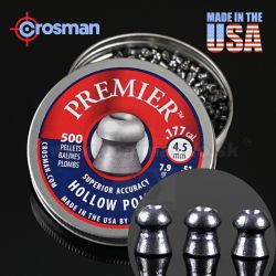 Diabolo Crosman 4,5mm Hollow Point Premier 500ks LHP77